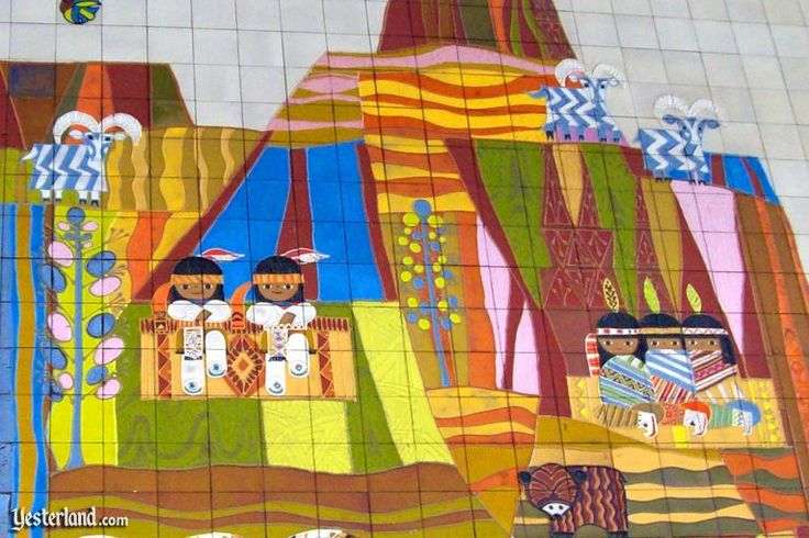 84 best images about mary blair on pinterest google for Disneyland mural