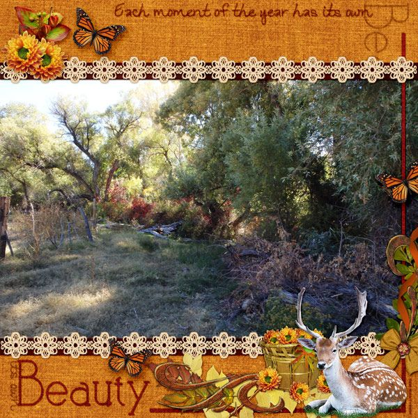 This is for Myst's October 2016 Element Challenge.  I used the Pretty Deer element provided for this challenge (Thank You Myst!), and November Woods Kit by Myst Designs.