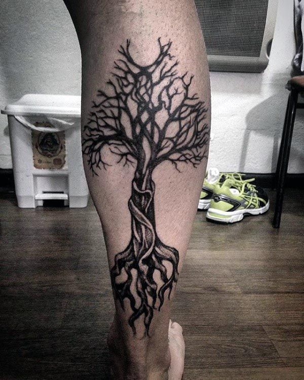 Awesome Guys Back Of Legs Tree Of Life Tattoos Tatuagem De