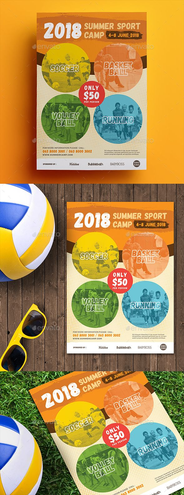 Best Sport Flyer Template Images On