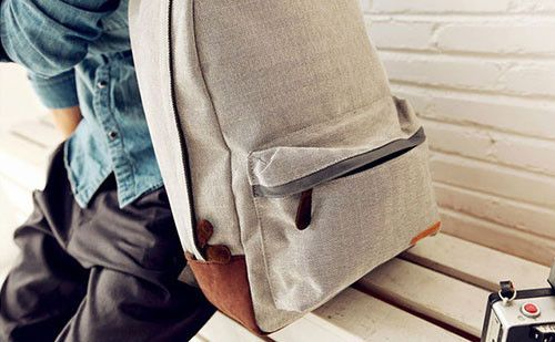 The Edgar Grey Linen Backpack #grey #backpack #fashion #menswear