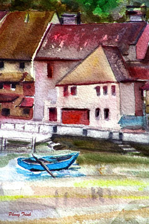 Lods Sur La Loue 18 - Phong Trinh Watercolor Fine Art Print Avail. At: http://www.artpal.com/phongtrinh/