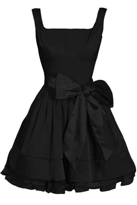 Short, black dress