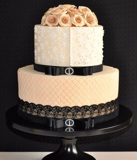 So pretty: Black Lace, Vintage Cake, Wedding Ideas, Weddings, Cake Ideas, Wedding Cakes, Beautiful Cake, Elegant Cake