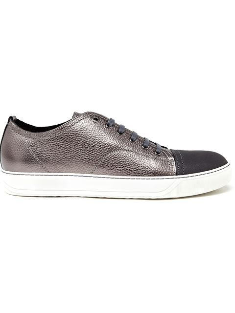 LANVIN Metallic Leather Trainers. #lanvin #shoes #sneakers
