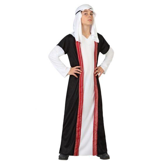Arabische sjeik kostuum voor kinderen. Arabische outfit voor kinderen, inclusief de jurk, hoofddoek en hoofdbandje. In verschillende maten verkrijgbaar. Carnavalskleding 2015 #carnaval