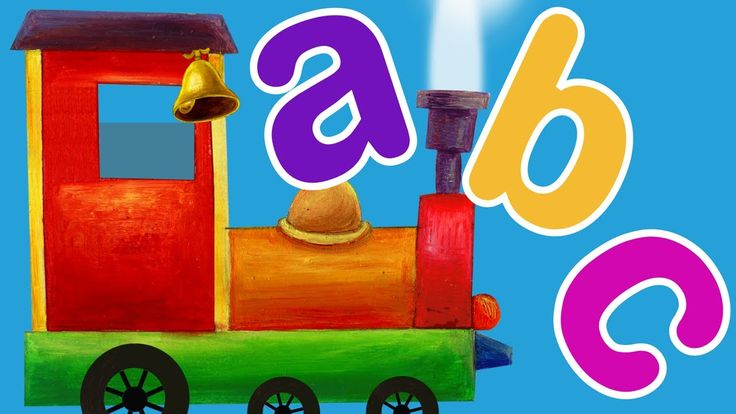 Train ABC Song l ABC Songs for Children - lowercase, words but no sounds