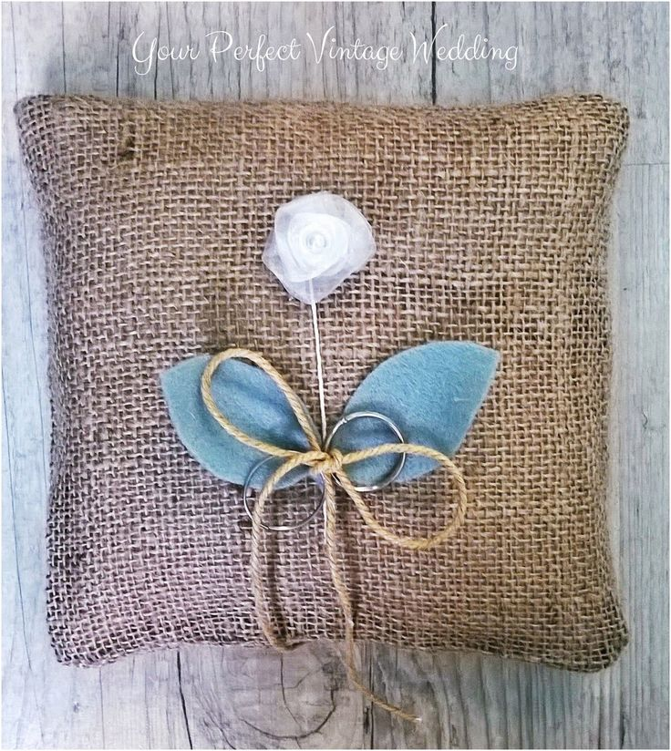 Rustic Burlap Ring Bearer Pillow - Vintage weddings never go out of fashion!
