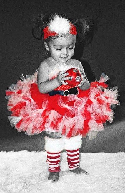 Santa Cutie Petti-Tutu Dress and Matching Headband- SZ 0-2T