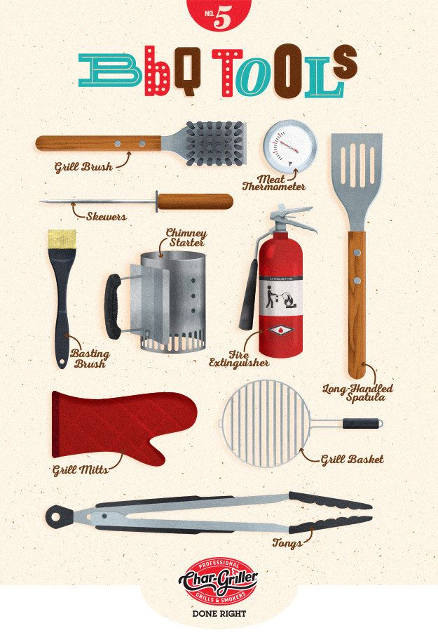 """What are the essential BBQ tools?"" 