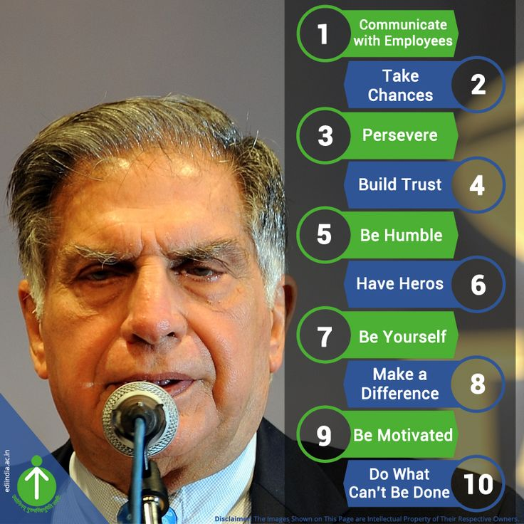 @Ratan Tata's top ten rules of success!  He build an empire on these #rules.  http://ediindia.ac.in/
