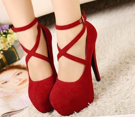 Women's Sexy Pumps la Vintage Red/Black Bottom Platform Strappy High Heels Party Shoes  Women's Shoe Sizes