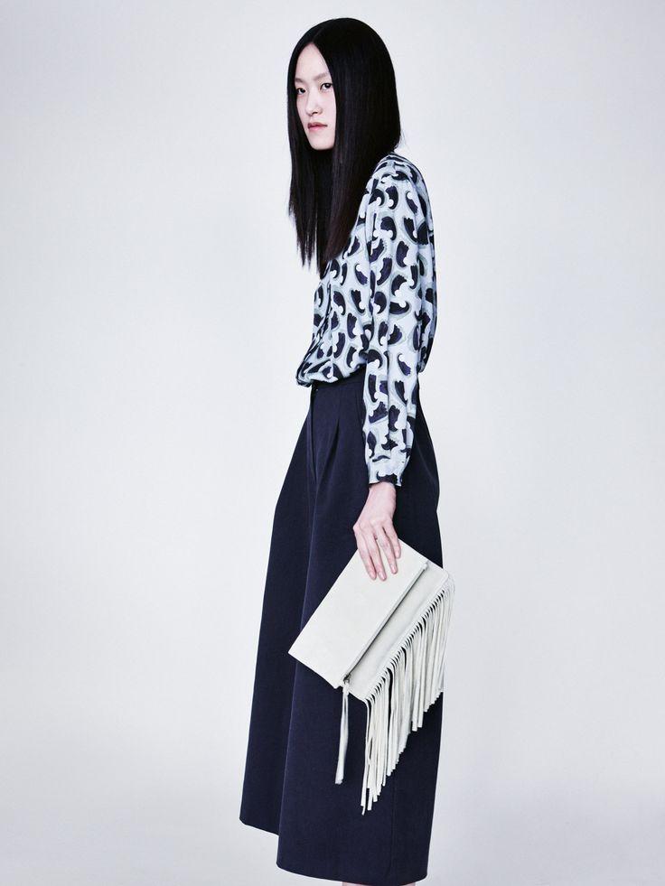 Shirly Shirt, Arica Trousers and Fringe Clutch | Samuji Resort 2016