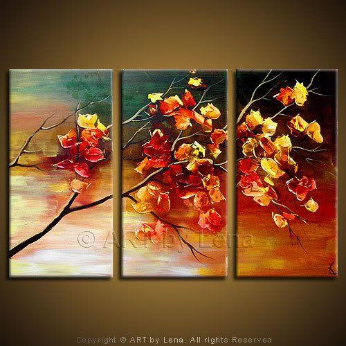 """Canadian Sakura"" - Original Landscape Art by Lena Karpinsky, http://www.artbylena.com/original-painting/548/canadian-sakura.html"