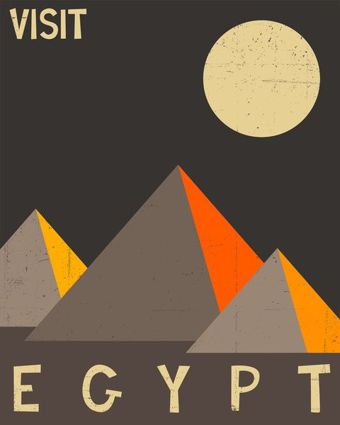 Egypt travel poster by jazzberry blue