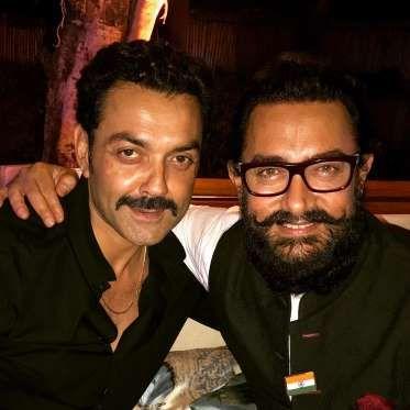 "Bobby Deol and Aamir Khan at ""Dangan"" success bash - Movie Talkies"