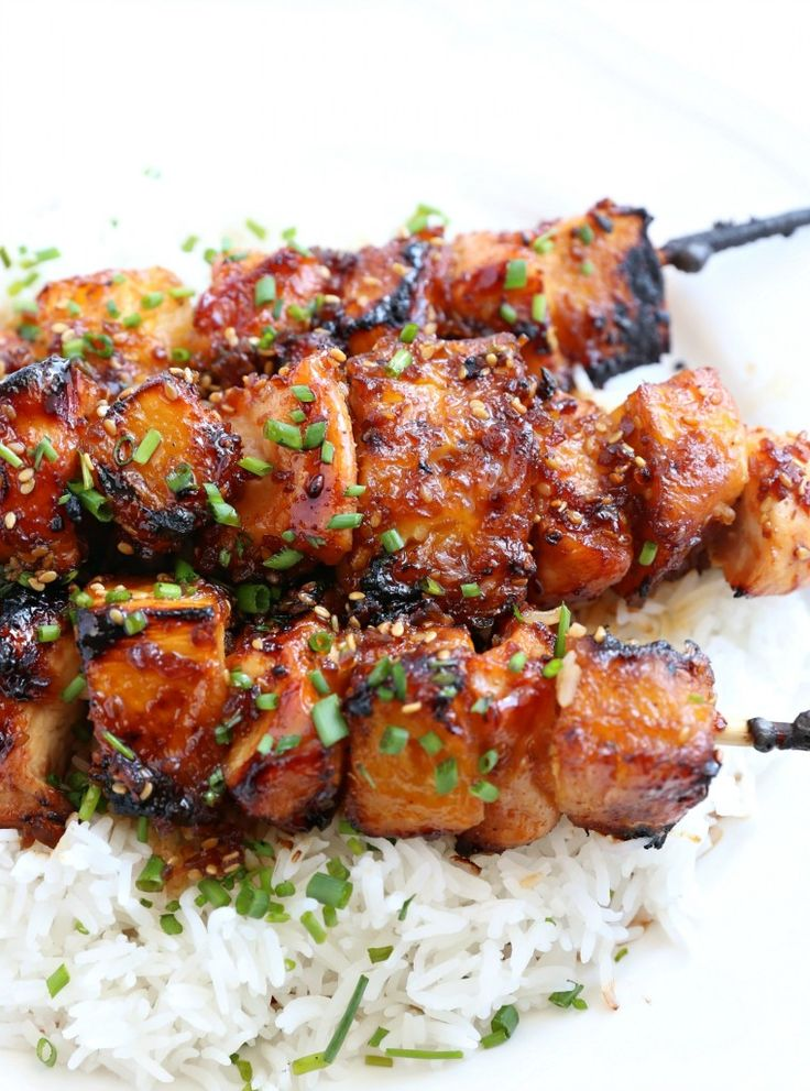 These Teriyaki Chicken Skewers are amazing and they have just three simple ingredients. They are a crowd pleaser for sure!!!
