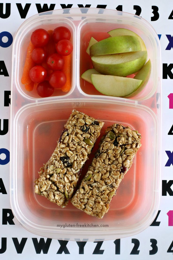 Gluten-free Allergy Friendly Chewy Granola Bars. #lunchfreely Top 8 free.