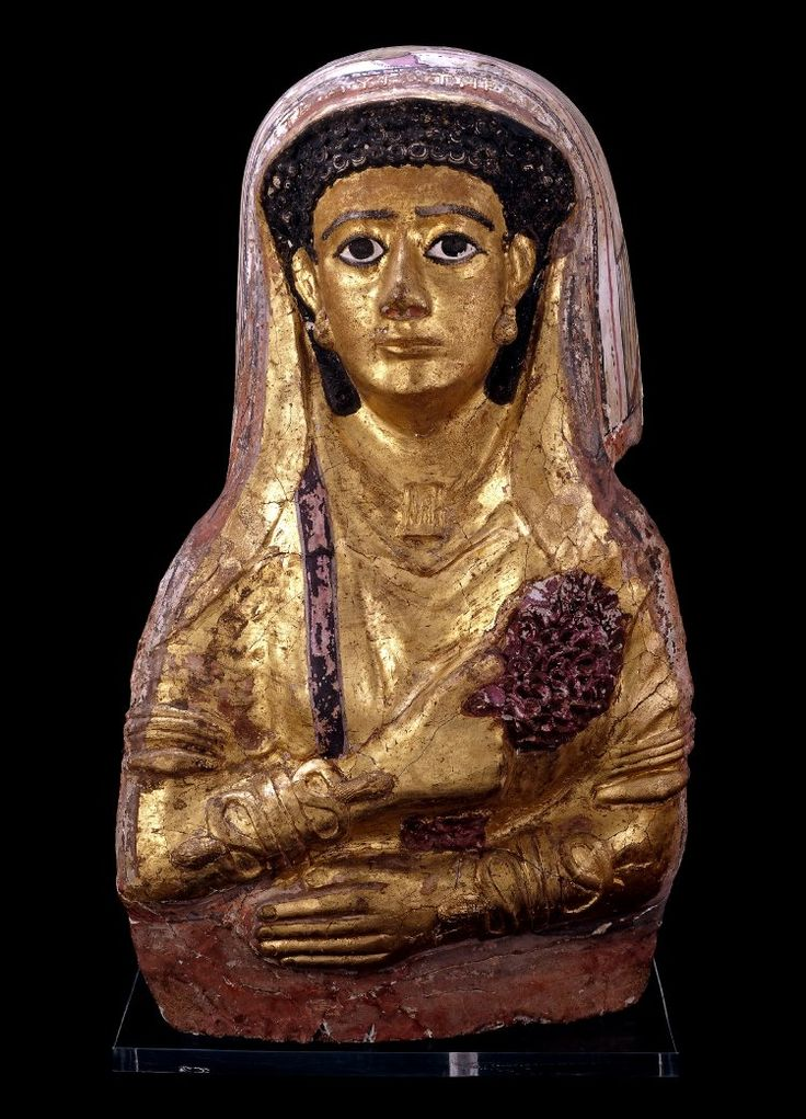 Mummy Mask  c. AD 50-70  Roman Period Egypt  (Source: The British Museum)