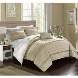 Shop for Chic Home Atticus Beige Duvet Cover 4 Piece Set. Free Shipping on orders over $45 at Overstock.com - Your Online Fashion Bedding Outlet Store! Get 5% in rewards with Club O!