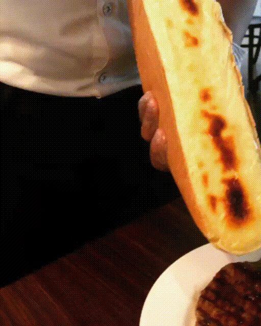 Melted raclette cheese on rib eye steak [512x640]