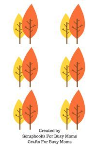 free fall leaf clip art for scrapbooking projects or crafts