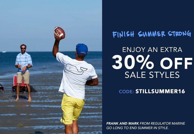 Vineyard Vines Preppy Clothing - ENJOY AN EXTRA 30% OFF SALE STYLES!: Code: STILLSUMMER16 #coupons #discounts
