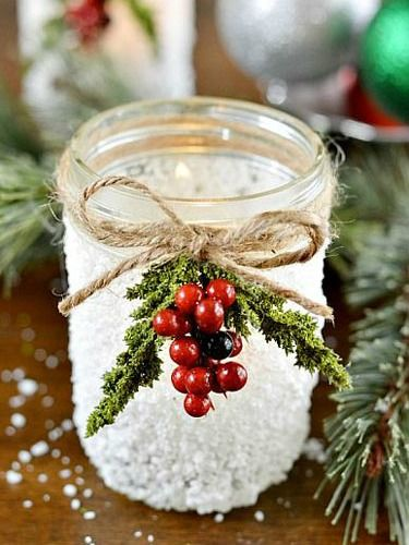 Mason Jar Christmas Crafts - Christmas Crafts and Ideas - Good Housekeeping