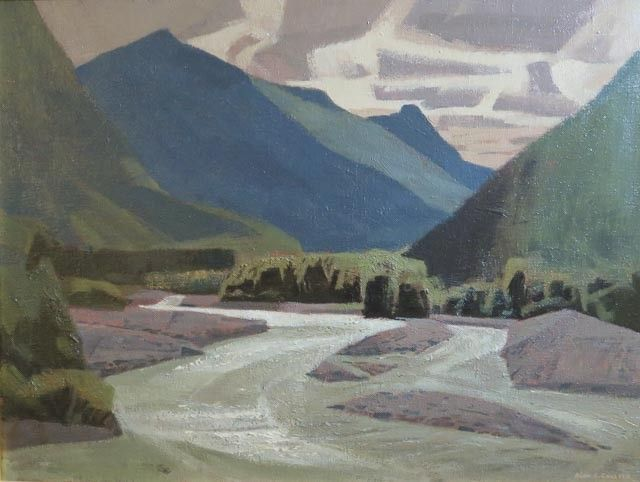 Alan Collier - Nusatsum River Bella Coola Valley B.C. 24 x 32 Oil on canvas