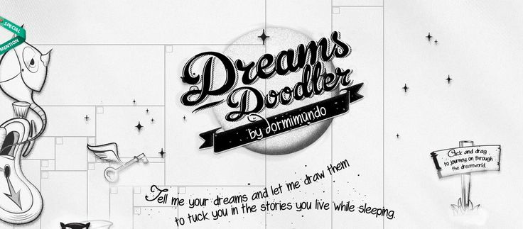 Dreams Doodler  #bigtypography #appdesign