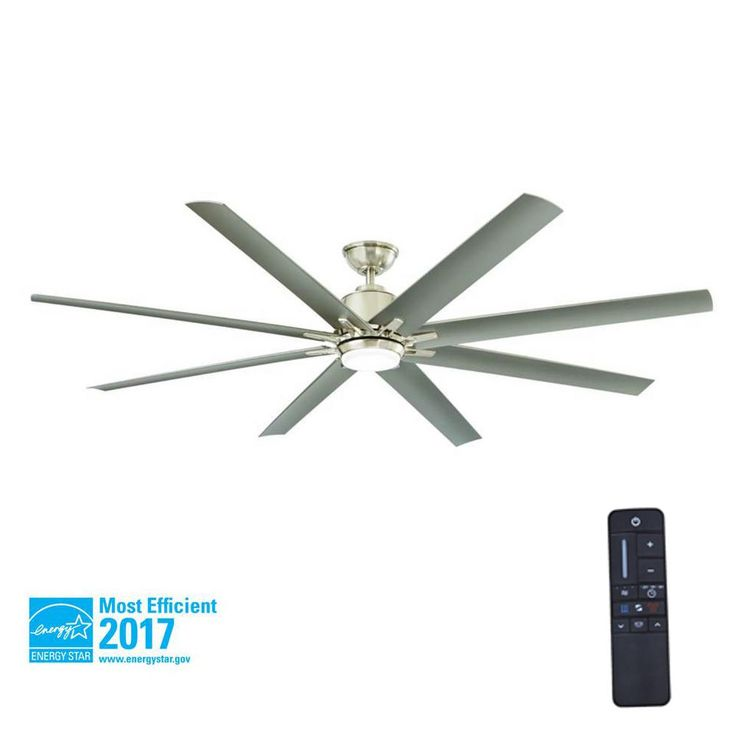 Home Decorators Collection Kensgrove 72 In Led Indoor Outdoor Brushed Nickel Ceiling Fan With Light Kit And Remote Control Yg493od Bn The Home Depot Led Ceiling Fan Ceiling Fan Ceiling Fan With Remote