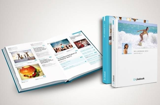 Likebook – A Printed Book Of Your Facebook Updates, $11 #facebook #books #photos