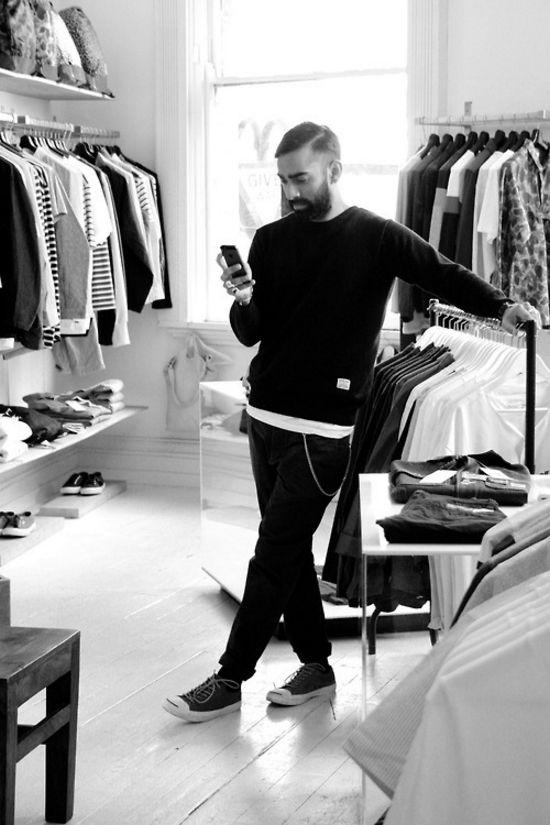 basic Black on Black tumblr Style streetstyle beard fashion