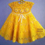 çocuk örgü elbise modelleri