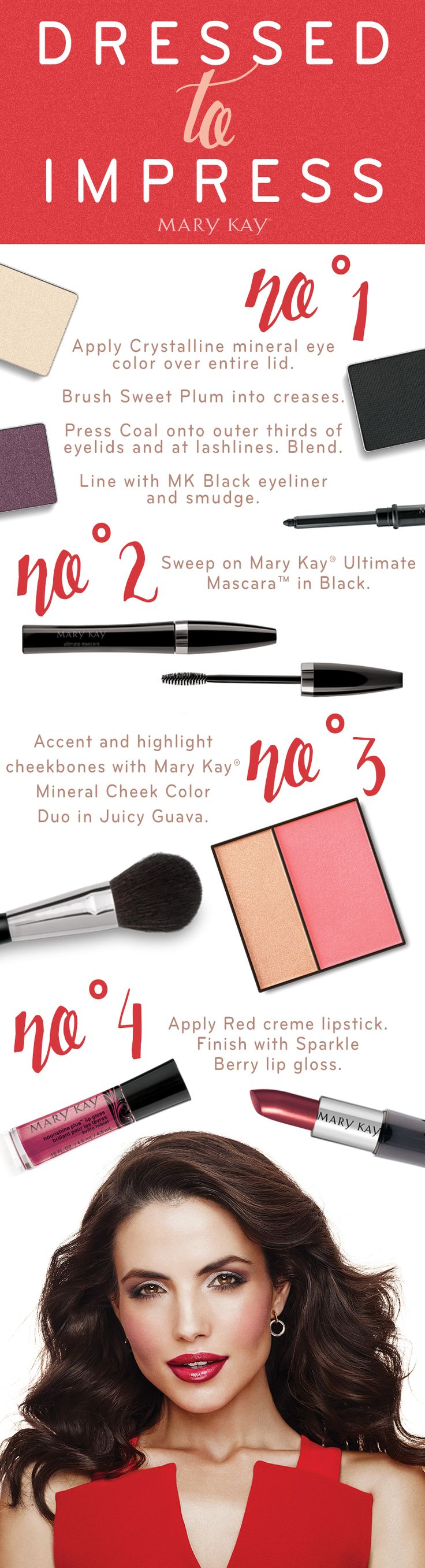 This weekend, get dressed to impress! Swipe on a sultry red lip with Mary Kay® Creme Lipstick in Red and NouriShine Plus® Lip Gloss in Sparkle Berry and watch jaws drop. http://www.marykay.com/lisabarber68 Call or text 386-303-2400
