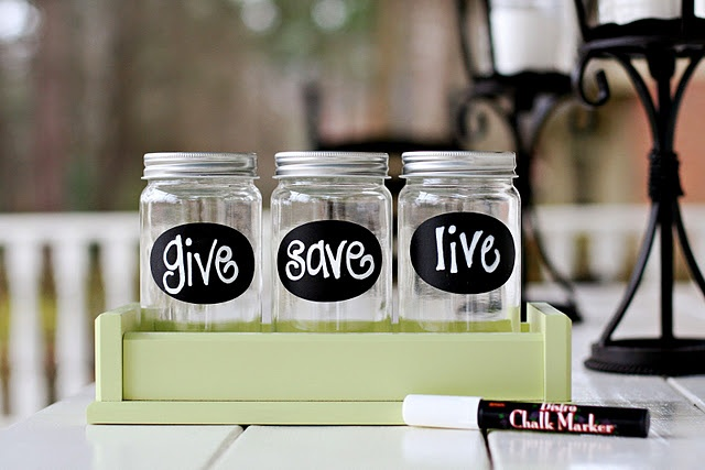 Money jars from lil light o 39 mine give save live for Cute money saving jars
