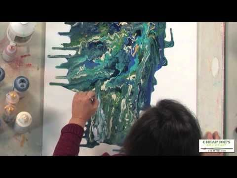 ▶ How to Create Acrylic Skins by Pouring and Dripping with Debbie Arnold - YouTube