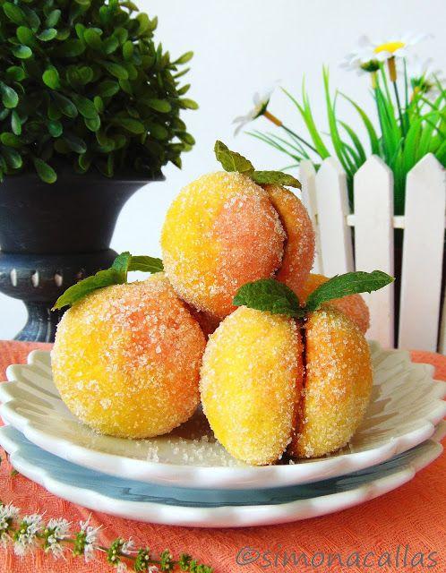 Peach Cookies with Peach Jam&Walnut filling