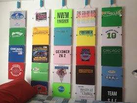 BRB! I've got...: Boston Training Part II & Race Shirt Wall Art!