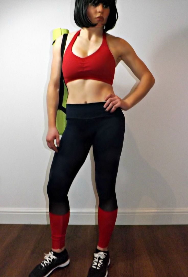 Black Mesh and Red Yoga Leggings - comfortable full length gym leggings | fit fashion, gym style and activewear