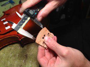 Carving a Violin Bridge