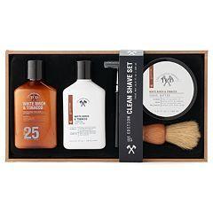 Tri-Coastal Design White Birch & Tobacco Shaving Gift Set