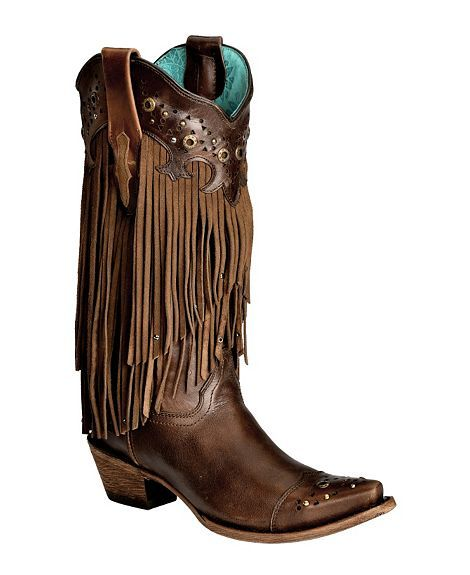 Corral fringe cowboy boots im in LOVE