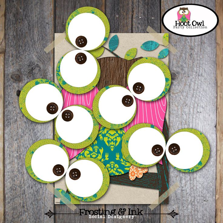 Pin The Eye on the Owl Game - Owl Party