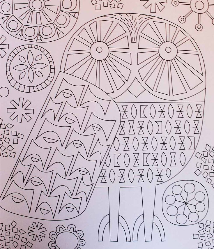 mid century modern coloring books for adults new from jenn ski - Modern Patterns Coloring Book