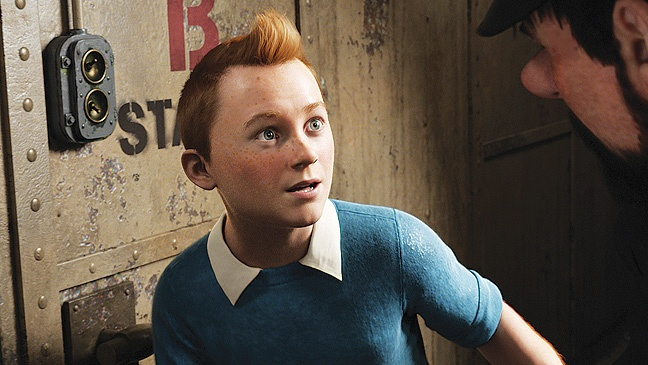 Tintin's freckles