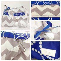 Blue grey chevron bag tote Made by sew Adorable Australia  www.facebook.com/sewadorableaustralia