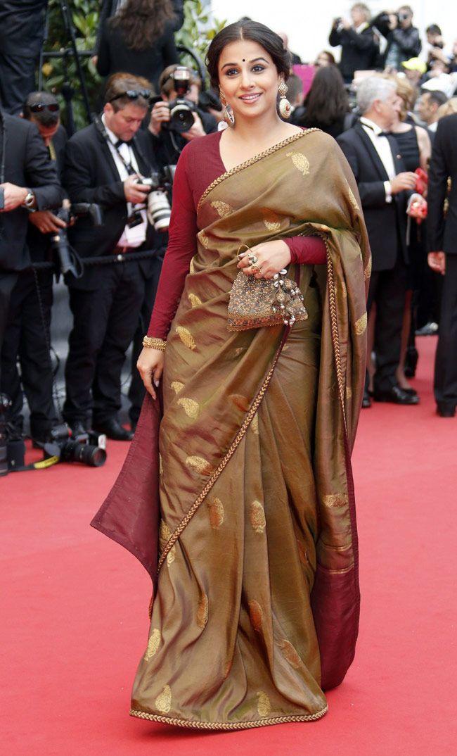 Vidya balan Cannes Saree