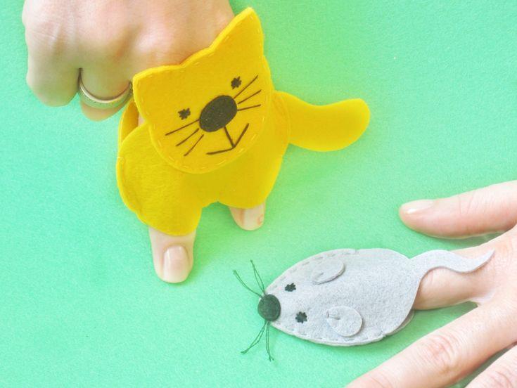 кошки-мышки пальчиковые игрушки из фетра выкройки