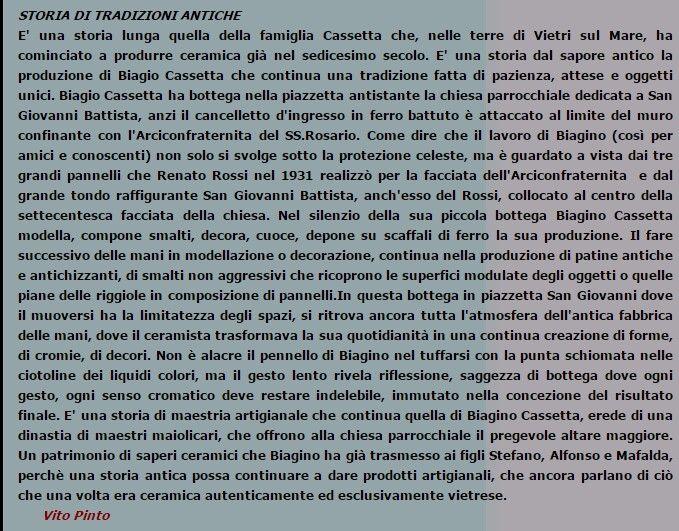 Storia della famiglia Cassetta | ceramica
